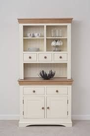 Image result for white and timber kitchen dresser