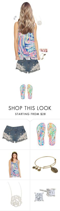 """""""ootd - driving practice and hanging at the nail place"""" by thekaileea ❤ liked on Polyvore featuring Lilly Pulitzer, Alex and Ani and Jennifer Zeuner"""