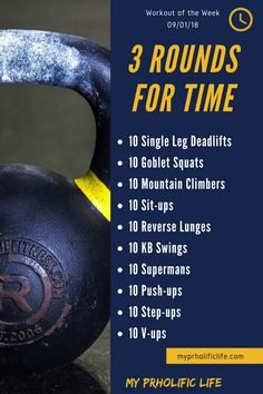 This workout of the week is a great cardio workout with the added weight benefit of kettle-bell and body weight movements. This workout of the week is a great cardio workout with the added weight benefit of kettle-bell and body weight movements. Wod Workout, Gym Workouts, At Home Workouts, Workout Motivation, Cross Fit Workouts, Full Body Circuit Workout, All Body Workout, Weekly Workouts, Boot Camp Workout