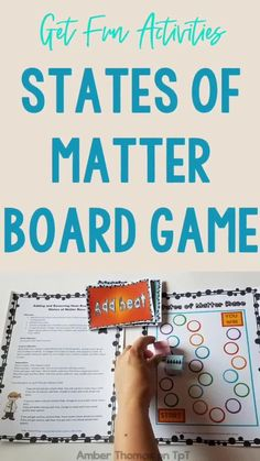 Get this states of matter unit with fun activities including a board game, test, and lessons to teach about solid, liquid and gas. #science #kids $ Upper Elementary Resources, Elementary Science, Movement Activities, Stem Activities, Science Lessons, Life Science, Chemical And Physical Changes, Narrative Writing Prompts, Science Anchor Charts