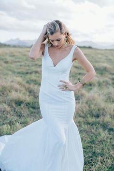Elegant Simple Cheap Long Mermaid Bridal Wedding Dresses, - Wish Gown Lace Evening Dresses, Elegant Wedding Dress, Bridal Wedding Dresses, Cheap Wedding Dress, Designer Wedding Dresses, Trendy Wedding, Wedding Ideas, Timeless Wedding, Lace Weddings