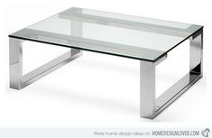 24 Modern Glass And Steel Coffee Table Design Ideas Stainless Table, Stainless Steel Coffee Table, Stainless Steel Furniture, Glass Furniture, Design Furniture, Table Furniture, Modern Furniture, Minimalist Furniture, Coffee Table Design