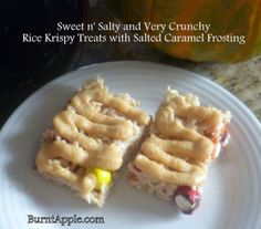 Salted Caramel Rice Krispies from www.burntapple.com #dessert #recipe