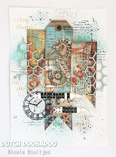 Mixed Media Canvas, Mixed Media Art, Art Journals, Visual Journals, Die Cut, Baby Album, Tim Holtz, Mini Albums, Mei