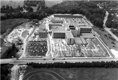 Aerial view of BMH East, 1979. Memphis Tennessee, Historical Pictures, Aerial View, Health Care, Historical Photos, Health