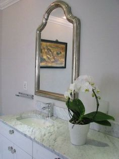 master vanity Shabby Cottage, Vanity, Mirror, Furniture, Home Decor, Rustic Cottage, Dressing Tables, Powder Room, Decoration Home