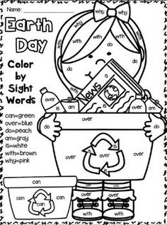 """Earth Day """"Research"""" Writing Unit for 1st-2nd grades! Includes a """"fill in the blank"""" booklet and many writing printables!"""
