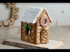 5) CHRISTMAS GINGERBREAD LOG HOUSE, HANIELA'S