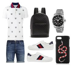 A menswear look from August 2017 featuring men's cotton polo shirts, mens short denim shorts and mens white leather shoes. Browse and shop related looks. Dope Outfits For Guys, Swag Outfits Men, Tomboy Outfits, Chic Outfits, Fashion Outfits, Teen Boy Fashion, Tomboy Fashion, Mens Fashion, Fashion Menswear