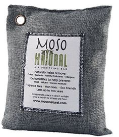 Moso Natural Air Purifying Bag Charcoal Color Naturally Removes Odors, Allergens and Harmful Pollutants. Prevents Mold, Mildew And Bacteria From Forming By Absorbing Excess Moisture. Fragrance Free, Chemical Free And Non Toxic. Reuse For Up To Two Years. Best Charcoal, Charcoal Color, Removing Dog Urine Smell, Pet Odor Remover, Natural Air Freshener, Urine Smells, Thing 1, Odor Eliminator, Pet Odors
