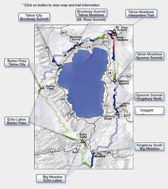 The Tahoe Rim Trail is 165 miles of single-track multi-use trail, winding from peak to peak around Lake Tahoe.