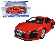 Audi R8 V10 Plus Red Special Edition 1:24 Diecast Model Car by Maisto - 31513R