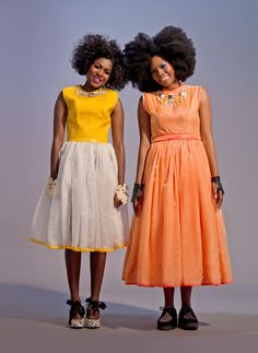 Hmm, high neck line with statement necklace gives illusion of smaller bust. Zinhle and Funeka Ngwevela for Glamour South Africa. Love Hair, Great Hair, Big Hair, Natural Hair Inspiration, Style Inspiration, Black Is Beautiful, Beautiful People, Curly Hair Styles, Natural Hair Styles