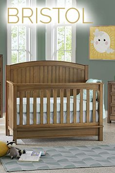Woodsy + chic = Bristol 4-in-1 Convertible Crib. Get yours today at Wayfair.com Camping Nursery, Outdoor Nursery, Best Crib, Preparing The Nursery, Convertible Crib, Baby On The Way, Crib Mattress, Welcome Baby, Nursery Furniture