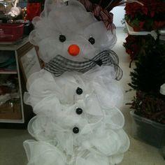 Mesh Snowman Door Piece.