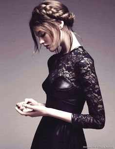 """this is leather and lace i could go for: Montana Cox in """"Brave New Look"""" by Nicole Bentley for Vogue Australia Leather And Lace, Black Leather, Leather Corset, Fashion Fotografie, Looks Dark, Looks Style, Summer Trends, Mode Style, Malta"""