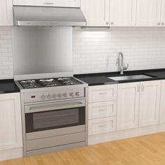 Ancona Gourmet Series 36 in. Stainless Steel Freestanding Gas Range: Remodelista