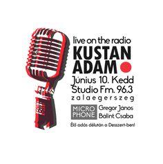 Radio Poster, typography, live, Kustan Adam, microphone