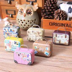 6Pcs Novelty Home Organizer Creative Mini Storage Bag  Small Tin Candy Box Cartoon Cute Coin Boxes Christmas Gift Box For Kids