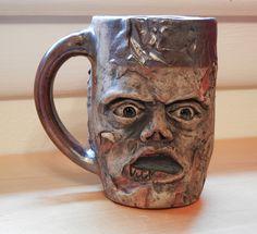 Zombie Mug - Ceramic - Sara E. Morales  #ceramic #pottery #zombie #mug