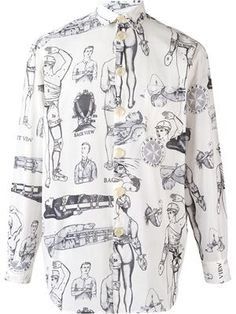 JEAN PAUL GAULTIER - 'First Aid' printed shirt