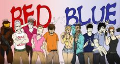 My rendition of the Red Vs. Blue characters without their armor.  O173 on deviantArt.com! Halo RvB redvsblue fanart