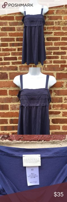 """Hanro of Switzerland Nightgown Gown Tank Hanro of Switzerland Sleep Tank Short Night Gown Beautiful Cornflower Blue Excellent condition; maybe slight fading from wash Size XS 31"""" long Hanro Intimates & Sleepwear Chemises & Slips"""
