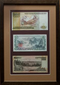 Mountain Themed framed banknote set!
