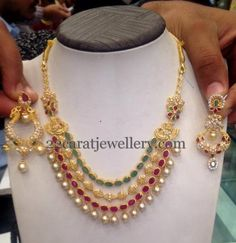 55 Grams Four Layer Necklace | Jewellery Designs
