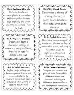 FREE 4th Grade CCSS ELA Standard Labels - Print these out on standard-sized shipping labels.  Use them to organize your teaching materials.  This resource is free from Christy Whitehair at TpT!