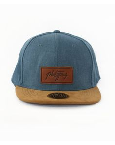 Denim Suede Platypus Logo Snapback www.platypus.clothing #streetwear #independent #fashion #headwear #hats