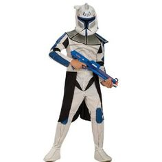 Rubies Star Wars Clone Wars Clone Trooper Captain Rex Child Costume- -- Star Wars is back and better than ever with tons of great options to choose from for Halloween Costumes. Check out this star wars costume and all of our others! Star Wars Halloween, Great Halloween Costumes, Halloween Fancy Dress, Halloween Kids, Trendy Halloween, Couple Halloween, Halloween Halloween, Halloween Makeup, Clone Trooper Costume