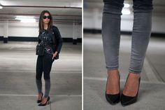 H Jacket, Current/Elliott Jeans, Boutique 9 Heels