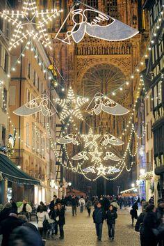 Strasbourg, France at Christmas... The oldest and biggest Christmas Market... December 2017