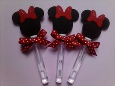 Minnie Mouse party favors, Minnie Mouse bubble wands set of 8