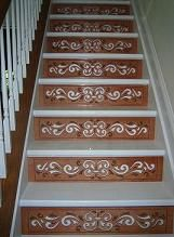 One Step Beyond - Decorative Stair Riser Photo Gallary - Full Staircases