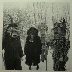nice masks - looks like modern mummers