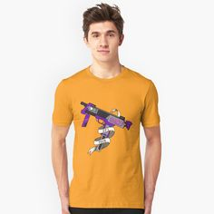 """DPS Main | FPS RPG Gamer Art | Submachine Gun"" T-shirt by JessicaAmber | Redbubble Submachine Gun, Tshirt Colors, Chiffon Tops, Best Sellers, Heather Grey, Classic T Shirts, Maine, Shirt Designs, Leggings"