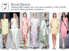 New York Spring 2014 Top Trends - Fresh Pastels