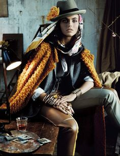 Folk Dandy – Latvian fashion model Karlina Caune poses for photographer Giampaolo Sgura's lens in the May 2013 issue of Vogue Germany. Fashion Foto, Image Fashion, Fashion Models, Fashion Beauty, Womens Fashion, Vogue Fashion, High Fashion Photography, Editorial Photography, Glamour Photography