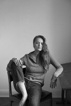 Simone cuntz Shooting Winter 17 Luxury knitwear handmade in Germany