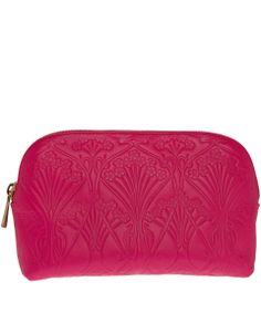 Liberty London Pink Ianthe Embossed Leather Cosmetics Case | Accessories by Liberty London | Liberty.co.uk