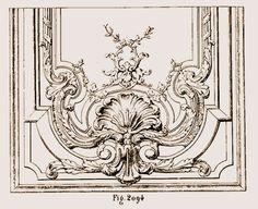 Fragment panneau de porte au palais de Versailles
