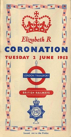 Pocket Coronation Map, issued by London Transport