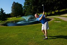 Elevated greens, and rolling terrain make Peace Portal a great place to test your golfing prowess. #SurreyBC
