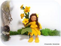 Butterblume Blumenkinder Jahreszeitentisch von Susannelfes Blumenkinder  auf DaWanda.com