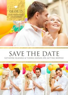 Simply Gold Save the Date TEMPLATE: 132911 By Roxanne Buchholz 5 x 7 Invitation Send out your Save the Date cards in style.