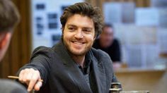 Tom Burke in rehearsal for The Deep Blue Sea
