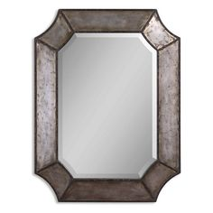 Uttermost Elliott Distressed Aluminum Wall Mirror - 24W x 31.75H in. | from hayneedle.com