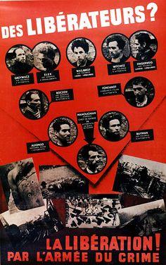 L'affiche rouge, propagande allemande, 1944.